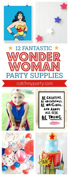 12 Amazing Wonder Woman Party Supplies -- party in…