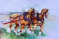 Title: Classic Draft. Original Water Colour Painting available as prints. Artist: Deena Press. ArtCommons.ca Shop: Art Zephyr Dawn Studio.