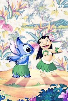 Imagen de disney, wallpaper, stitch and lilo Lelo And Stitch, Lilo Et Stitch, Arte Disney, Disney Magic, Disney And More, Disney Love, Ohana, Tahiti, Disney And Dreamworks