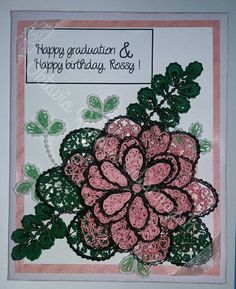 Pink Graduation + Birthday Card by oktaviarahayu