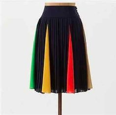 Anthropologie-HD-in-Paris-Skirt-Pleated-Blue-Skirt-Size-2-Small