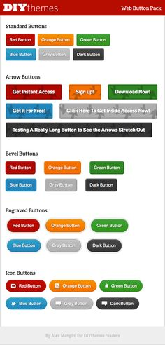 30 free web buttons, shortcodes. From DIYThemes (i.e. Thesis theme)