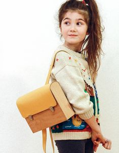 Wooden Yellow Kids Backpack