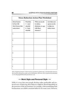 stress management worksheets | Stress Reduction Action Plan Worksheet