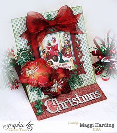 Christmas is coming and it's time to get those cards done!  Video tutorial link on Maggi's blog.