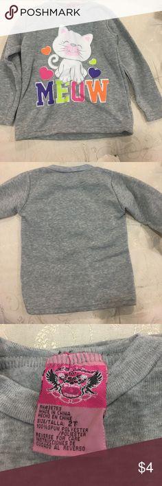 Kitty Cat Meow sweatshirt. 2T EUC Cute sweatshirt for your cat lover. Size 2T. EUC Shirts & Tops Sweatshirts & Hoodies