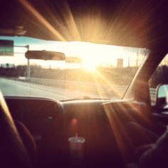 Roadtrip + sunlight.