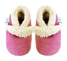 Acogedoras zapatillas de gamuza zapatos para meses Bebé Con Suede suela 12-18 meses rosa Dotty Fish Chica