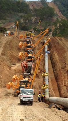 Getting close to Gladstone Pipeline Construction, Used Construction Equipment, Construction Machines, Mining Equipment, Heavy Equipment, Pipeline Jobs, Pipeline Welding, Earth Moving Equipment, Caterpillar Equipment