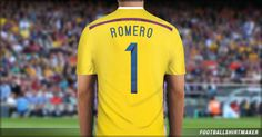 La camiseta de arquero de Argentina de Romero