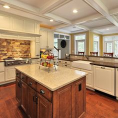 Silestone, Bamboo (Island). Let NewGraniteMarble.com complete your next countertop project!