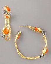 Carnelian Vine Hoop Earrings..neimanmarcus.com