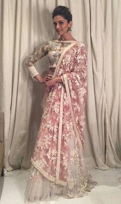 Deepika Padukone wearing Varun Bahl at her movie Bajirao Mastani Promotions