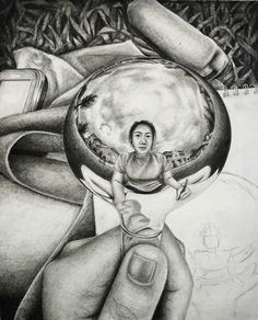 musical instruments and portraiture artwork Ap Drawing, Still Life Drawing, Drawing Lessons, Art Lessons, Painting & Drawing, Drawing Ideas, Reflection Photos, Ap Studio Art, Drawing Exercises