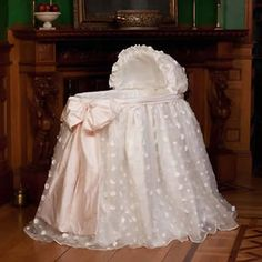 Lausanne Bassinet from PoshTots. Royal bassinet fit for a prince or princess