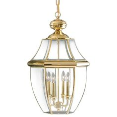 """Quoizel NY1180 Newbury 4 Light 16"""" Wide Outdoor Pendant Lantern with Clear Glass"""