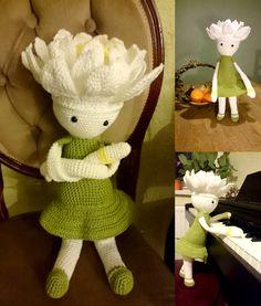 Waterlily Winnie flower doll made by Kasia W - crochet pattern by Zabbez