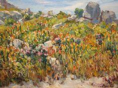 'Namaqualand' - Hugo Naude (1868–1941) Spanish Painters, French Impressionist Painters, Western Art, Dutch Painters, Amazing Art, Painting, Art, African Art, Impressionist