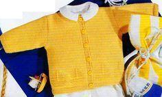 [Tricot] Le cardigan aux bâteaux - La Boutique du Tricot et des Loisirs Créatifs  Tailles : de 9 mois à 24 mois Aiguilles : 3,5