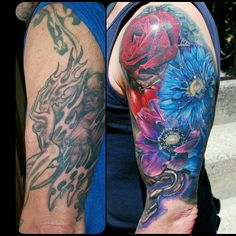 Floral, snake, tomato, cover up, tattoo