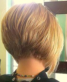 awesome Stacked Bob Haircut, bob haircuts for fine hair,inverted bob with bangs, black...