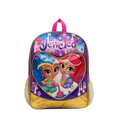 3af3281c034 Nickelodeon Shimmer and Shine 16 inch Backpack Disney Junior