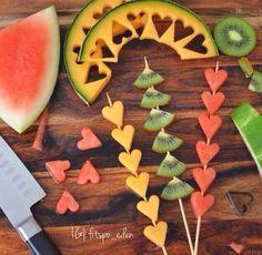 Fruits skewers