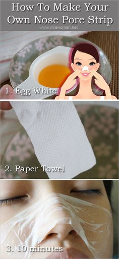 Make Your Own Nose Pore Strip Using Eggs and Paper.