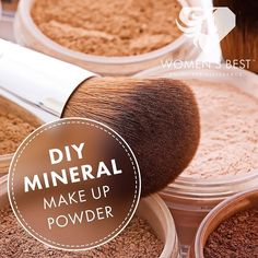 - DIY MINERAL MAKE UP POWDER - Create your own super healthy non-toxic foundation powder! This homemade powder is 100% natural super inexpensive and makes your skin better as you wear it. - What you need:  Arrowroot flour/starch (your base)  Pure and organic cocoa powder  Ground cinnamon  Ground nutmeg  Ground ginger  Bentonite clay  Green clay  Vitamin e oil  Tea tree oil or jojoba oil - Recipe for light skin tone: 1/4 cup arrowroot flour/starch. 4 tbsp cocoa powder or cacao powder 1/4 tsp…