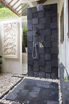 outside shower!