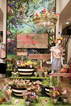 The third window has been transformed into a pop up flower stall at Argyll Street