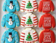 Cookies by Oh, Sugar! Christmas Sugar Cookies, Christmas Sweets, Christmas Goodies, Holiday Cookies, Christmas Baking, Fancy Cookies, Iced Cookies, Cute Cookies, Cookies Et Biscuits
