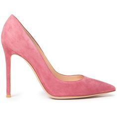 Gianvito Rossi Classic Pumps ($670) ❤ liked on Polyvore featuring shoes, pumps, heels, kirna zabete, high heel shoes, pink pointy toe pumps, high heel pumps, high heels stilettos and stiletto pumps