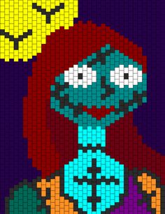 Sally Nightmare Before Christmas Bead Pattern