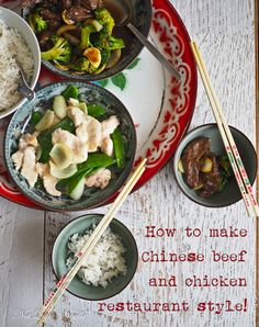 How To Make Chinese Restaurant Style Beef and Chicken!