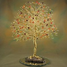 Tree Fall Wedding Cake Topper Swarovski Crystal Elements - No Figurine. $145.00, via Etsy.