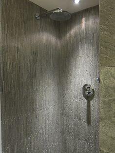 Concrete stria shower walls