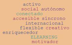 Wordle sobre las ventajas del e-learning
