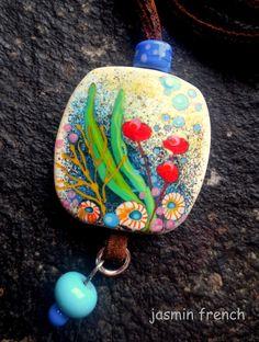 jasmin french ' underwater tale ' handmade lampwork glass art bead by 'jasminfrench' on Etsy ♥≻★≺♥