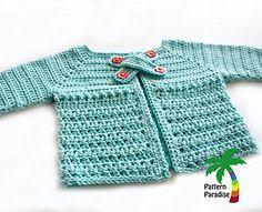 Ravelry: X Stitch Baby Cardigan Sweater pattern by Maria Bittner Crochet Bebe, Baby Girl Crochet, Crochet For Kids, Free Crochet, Knit Crochet, Ravelry Crochet, Crochet Stars, Irish Crochet, Crochet Baby Sweaters