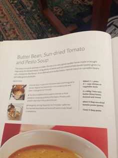 Butter bean, sundried tomato and pesto soup