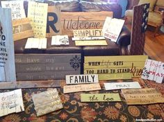 DIY ~ Do It Yourself Signs from a Pallet @jen (Balancing Beauty and Bedlam/10 Minute Dinners blogs) Easy Do It Yourself Wood Pallet Signs