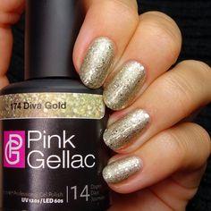 Pink Gellac 174 Diva Gold Gel-Nagellack via pinkgellac.de