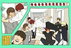 bts  fan art | Tumblr | well yoongi's got a great view of that jibooty, meanwhile jungkook's right under the d
