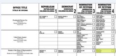 New Jersey ballot, 2012 presidential election