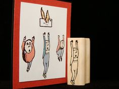 little guy no.3 rubber stamp-pictureshow-Etsy