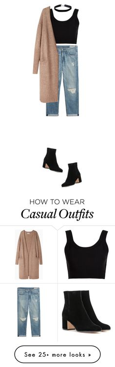 """""""just that casual"""" by cnle on Polyvore featuring Gianvito Rossi, rag & bone, Calvin Klein Collection, Acne Studios and Miss Selfridge"""
