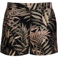 Ted Baker Zakiash Palm Jacquard Suit Shorts, Black (6.235 UYU) ❤ liked on Polyvore featuring shorts, bottoms, tailored shorts, palm tree shorts, black shorts, jacquard shorts and palm print shorts