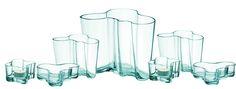 iittala water green Aalto vases