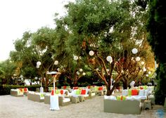 Orange and green theme at an afternoon event organised by MELI Parties!